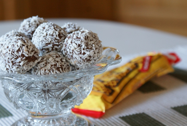 chokladbollar med kexchoklad