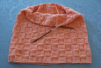 stickad tröja ice yarn Mallorca