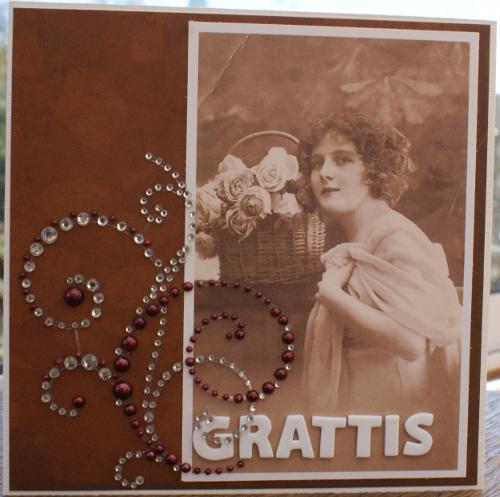 kort med vintage