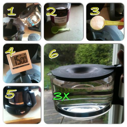 rengöring av kaffebryggare