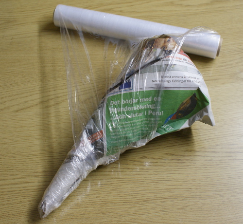 pyssel med tidningspapper