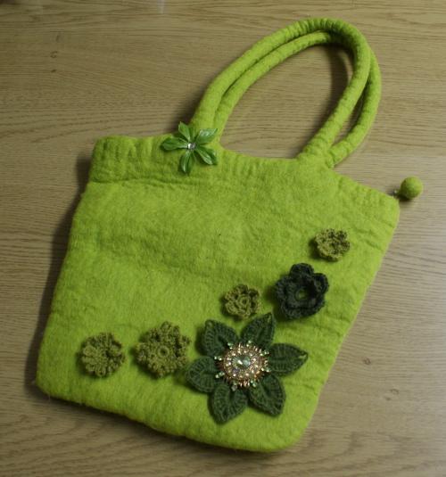 dekorerad väska
