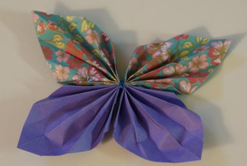 fjäril origami