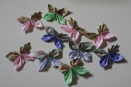 vikta fjärilar