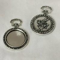 cabochon fickur silver