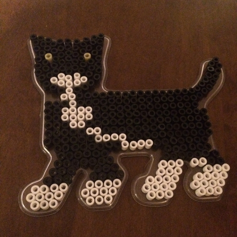 pärlplatta katt
